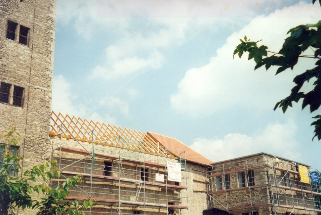 Dach für den Südflügel